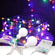 2 м 3M 6 м светодиодный шар гирлянда огни для рождественской елки свадьбы дома внутреннего украшения водонепроницаемый батарея питание