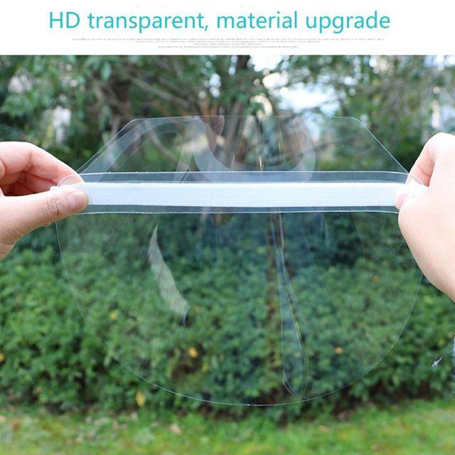 Dust-proof Portable light Transparent Anti-saliva Protect Full Face Covering Mask Visor Shield Protection Masks 3