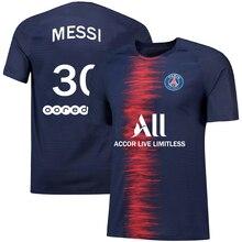 Summer new Men Soccer Jersey Adult Football Shirt   Messi  PSG Ligue Patch MBAPPE NEYMAR  Children