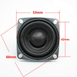 Image 3 - SOTAMIA 2 pièces 53mm Mini Audio Portable haut parleur bricolage stéréo musique son amplificateur haut parleur pilote 4 Ohm 5W Home cinéma haut parleur