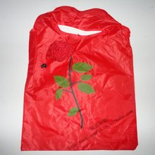 Hot Sales Rose Shopping Bag, Dacron Rose Bag, Rose Advertisement Eco-friendly Bag Can Be Printed Logo(China)