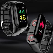 新しいM1愛スマートウォッチbluetoothヘッドフォン心拍数モニタースマートリストバンド長時間スタンバイフィットネスブレスレットスポーツ腕時計