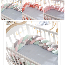 Baby Cot Crib Sides Knot Crib Long Knotted Braid Pillow 4 Strands Baby Knot Bed 2M/3M Babies Room Decor Crib Bumper Babykamer все цены