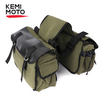 KEMiMOTO Motorcycle Bags Saddlebag Luggage Bags Travel Knight Rider For Touring For Triumph Bonneville For Honda shadow(China)