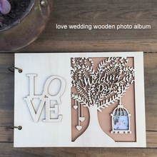 Personalised Wooden GuestBook 20page/30page Party Home Decoration Birthday Gift Wedding Guest Book Creative Celebration