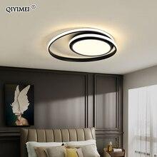 โคมไฟเพดานโมเดิร์นโคมไฟLEDสำหรับห้องนั่งเล่นห้องนอนStudy Roomสีขาวสีดำสีพื้นผิวโคมไฟเพดานโคมไฟDeco AC85 265V
