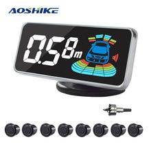 AOSHIKE Car Parking Sensor Automobile Reversing Radar Parktronic 8 Sensors Auto Backing Assistance Voice Buzzer Detector System