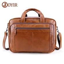 JOYIR 새로운 디자인 남자 서류 가방 브랜드 어깨 가방 정품 가죽 Busniess 서류 가방 남자 여행 핸드백 남자 서류 가방