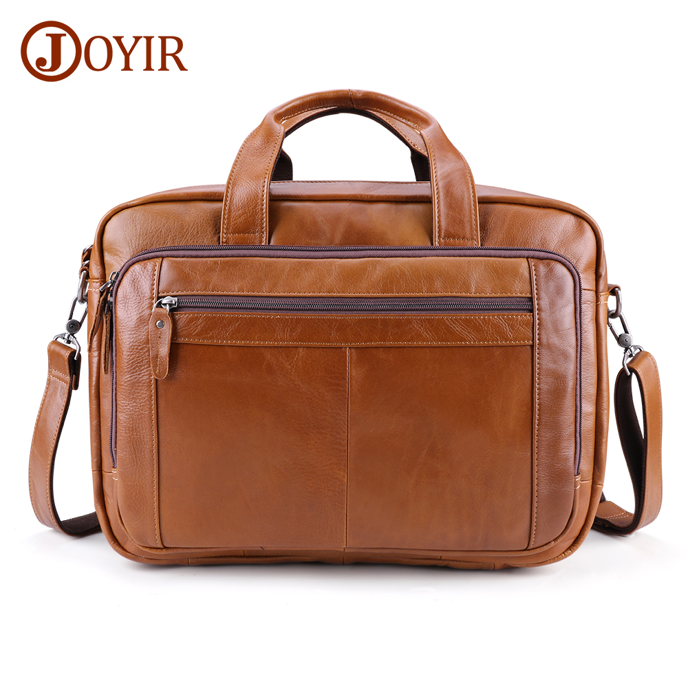 JOYIR New Design Men's Briefcase Brand Shoulder Bag Genuine Leather Busniess Briefcase For Men Travel Handbag Men Briefcase