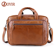 JOYIR New Design Mens Briefcase Brand Shoulder Bag Genuine Leather Busniess Briefcase for Men Travel Handbag Men Briefcase