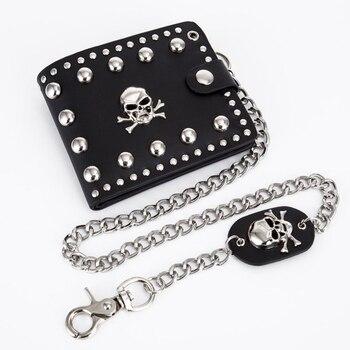 Vintage Skull Head Wallet w/ Key Chain  1