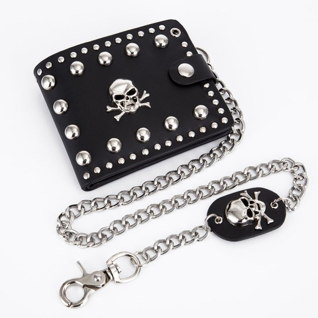 Vintage Skull Head Wallet w/ Key Chain  1