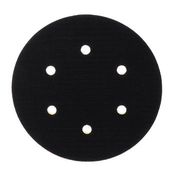 6 Inch 6 Holes Backup Sanding Pad Sanding Disc Backing Pad 5/16-24 Thread Hook and Loop Abrasive Tools Grinder Accessories 6 inch 150mm 17 hole dust free m8 thread back up sanding pad for 6 hook