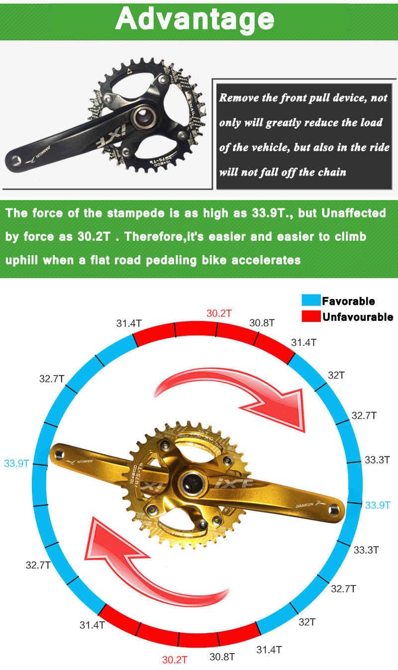 MOTSUV 104BCD รอบแคบกว้างห่วงโซ่ MTB จักรยานเสือภูเขาจักรยาน 104BCD 32T 34T 36T 38T crankset ฟันแผ่นชิ้นส่วน 104 BCD