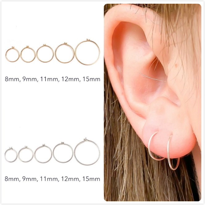 925 Sterling Silver Earrings For Women/Men Small Hoop Earrings Ear Bone aretes Tiny Ear Piercing Ring Girl gold ear hoops R5(China)