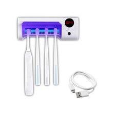 2 ב 1 אוטומטי UV אור אולטרה סגול מברשת שיניים Sanitizer אנטיבקטריאלי מברשת שיניים בעל מעקר היגיינת פה אין קידוח