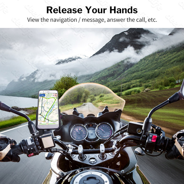 Deelife Motorcycle Phone Holder for Moto Motorbike Mirror Mobile Stand Support USB Charger Wireless Charging Cellphone Mount 2