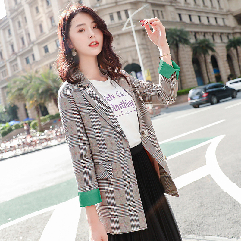 Spring and Autumn Fashion Lady Small Suit Feminine 2020 new casual slim single-breasted women's blazer Women's jacket coat Wild