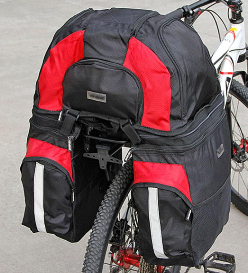 VSHENG Bicycle Bag Backpack Large Capacity Removable Bike Rear Seat Rack Package Cycling Storage Bag Riding Trunk Carrier Bag Bicycle Repair Tools     - title=