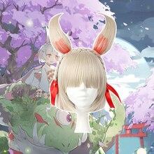 Парики для косплея из игры Onmyoji, термостойкие синтетические парики для Хэллоуина, карнавальные, вечерние, аниме, косплей парик