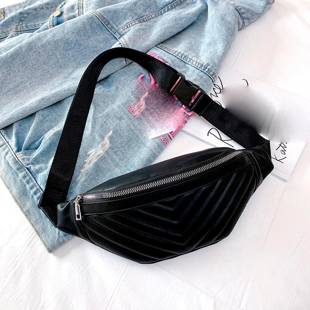 Chest Bag Ladies  Women Striped Pockets Fashion Diagonal Chest Bag Travel Versatile Shoulder Bag  2019 New #45