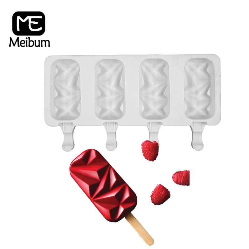 Meibum 4 cavité Silicone glace moule été Popsicle moule bac à glaçons enfant congélateur jus Dessert fabricant outil de cuisson