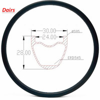 27.5er carbon mtb disc rims U shape XC 30X28mm tubeless Mountain bicycle clincher mtb Bike clincher ERD 545mm