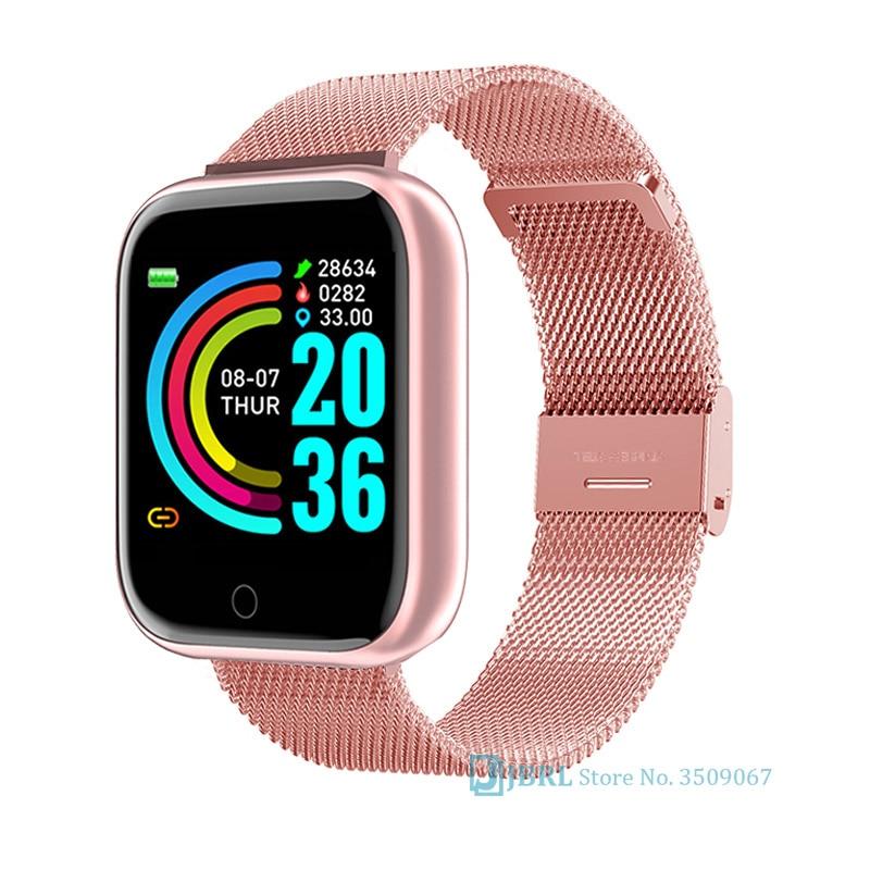 New Fashion Square Smart Watch Women Men Sport Watch Electronic Lady Wrist Watch Luxury Clock Female Stainless Steel Smartwatch