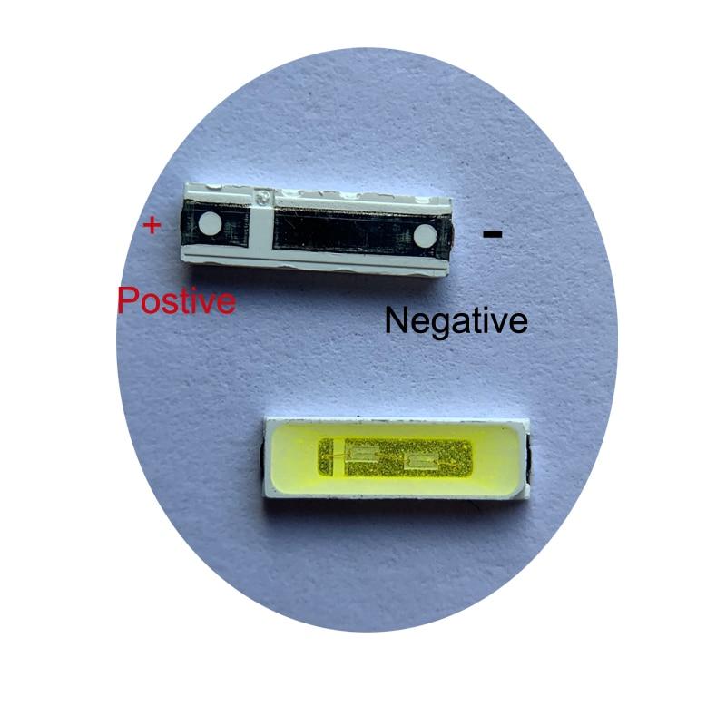 100pcs 7020 LED 6v Backlight 1W 85LM Cool White LCD Backlight For TV  Application Smd 7020 Diode