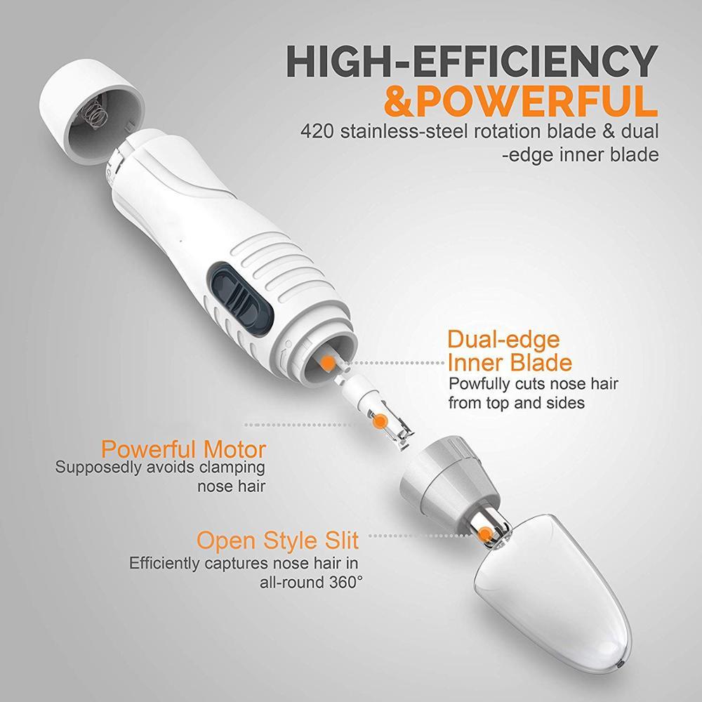 Tondeuse électrique pour poils de nez et oreilles
