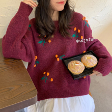 Women Vintage Sweater 2020 Spring And Winter O-Neck Loose Casual All-Match Female Fashion Sweater
