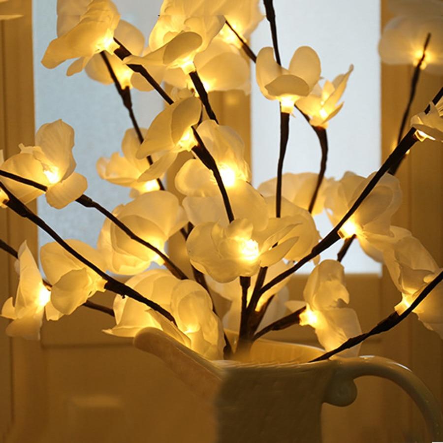 20 lâmpadas artificial salgueiro galho floral natal