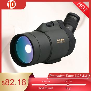 SVBONY 25-75 #215 70 Luneta SV41 monokularowy teleskop załamania Zoom optyka myśliwska BAK4 pryzmat dalekiego zasięgu wodoodporne w statyw do polowania strzelania łucznictwa obserwowania ptaków tanie i dobre opinie SV41 spotting scope 70mm 780mm 11 2 20mm 25x-75x Full Multi-Coated 2 8-0 93mm 19mm @25x-15mm@75x 20-35 m 1000m 60- 105ft 1000yds