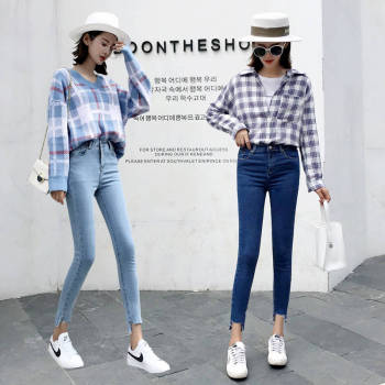 Summer Women Jeans High Waist Skinny Jeans for Women Trousers High Elastic Stretch Jeans Blue Pencil Pants coyote valley 2017 hot style fine elastic jeans women s cotton hole in pencil and feet high quality jeans high waist jeans