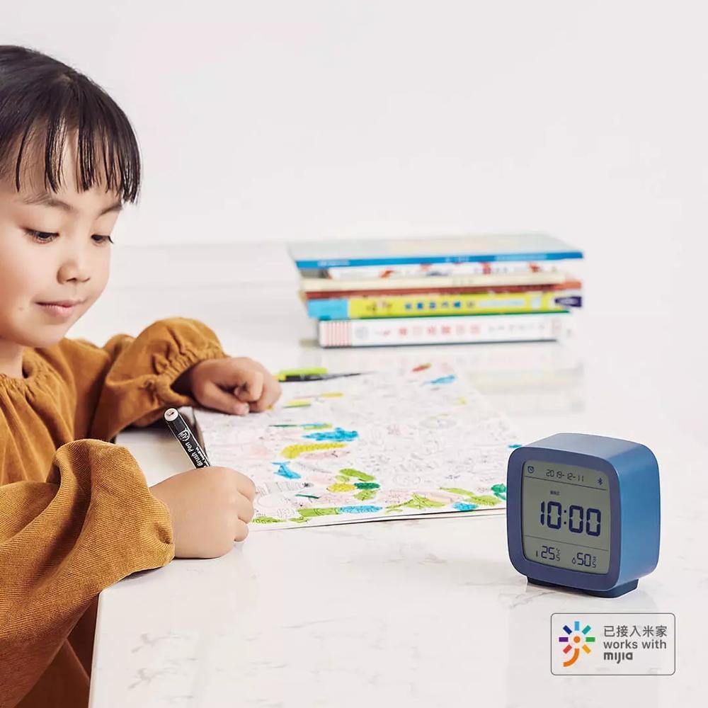 Image 4 - 在庫 Xiaomi 清平 Bluetooth 温度湿度センサー Mijia 夜の光 Lcd アラーム時計 Mihome アプリ制御温度計    グループ上の 家電製品 からの スマートリモコン の中