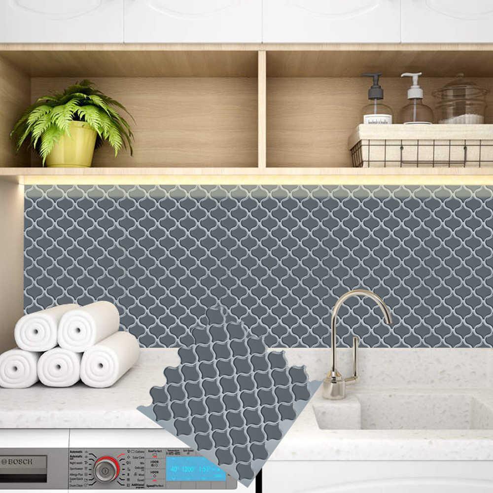 - Gray Lantern Self Adhesive Peel And Stick Tile Backsplash Baffle 3D Mosaic  Wallpaper Ethylene Kitchen Bathroom DIY Decoration- AliExpress