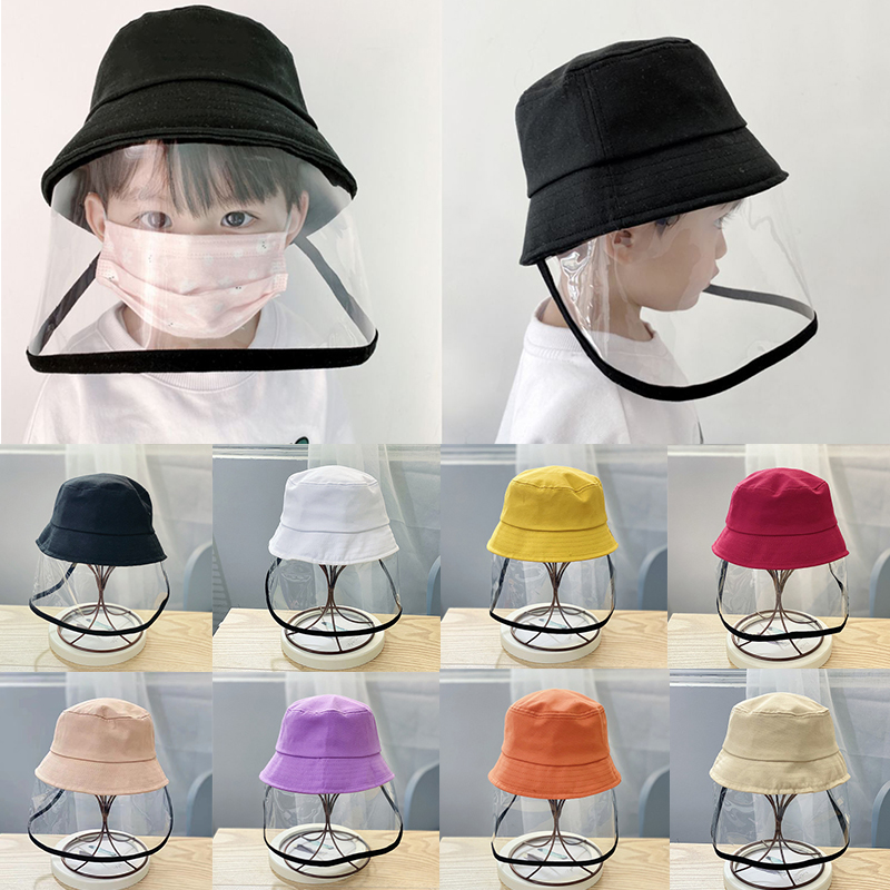 Crianças chapéu de balde com protetor facial crianças rosto capa protetora sol chapéu verão rosto capa protetora sun cap rosto protetor