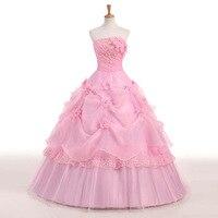 Свадебное платье без Бретелек Кружевное бальное платье Принцесса сладкий цветочный принт свадебное платье размера плюс Vestido De Noiva