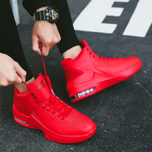 2019 nuevo De alta De los hombres zapatillas De baloncesto deportes clásicos zapatillas De hombre zapatillas entrenador grande De talla grande 36-47 hombres Chaussures De cesta De zapatos 3