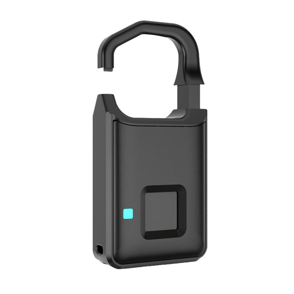 Footprint Padlock Waterproof Fingerprint Padlock With Fingerprint USB Charging Anti-Theft Keyless For Door Cabinet Backpack
