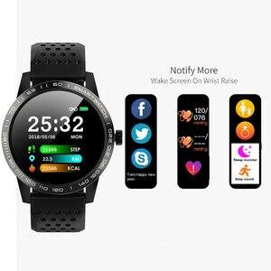 Image 4 - WearpaiT2 montre intelligente hommes Fitness Tracker moniteur de fréquence cardiaque tension artérielle Bluetooth alarme appel entrant montre étanche à leau hommes