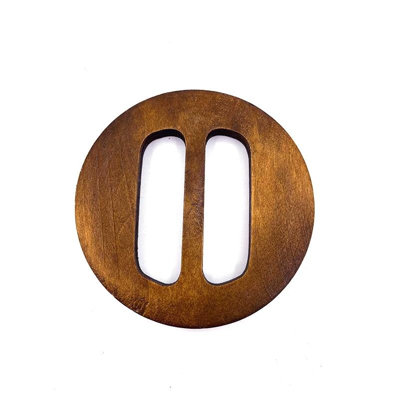80mm Round Buckle Slider For Decorative Invitation Accessorieas Fitting Silk Scarf Buckle Garment Buckle Wooden Belt Buckle