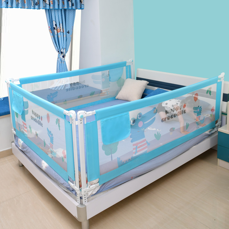 Baby Bed Safety Gate with Rails to Protect the Child from Falling Down the Bed while Sleeping or Playing 4