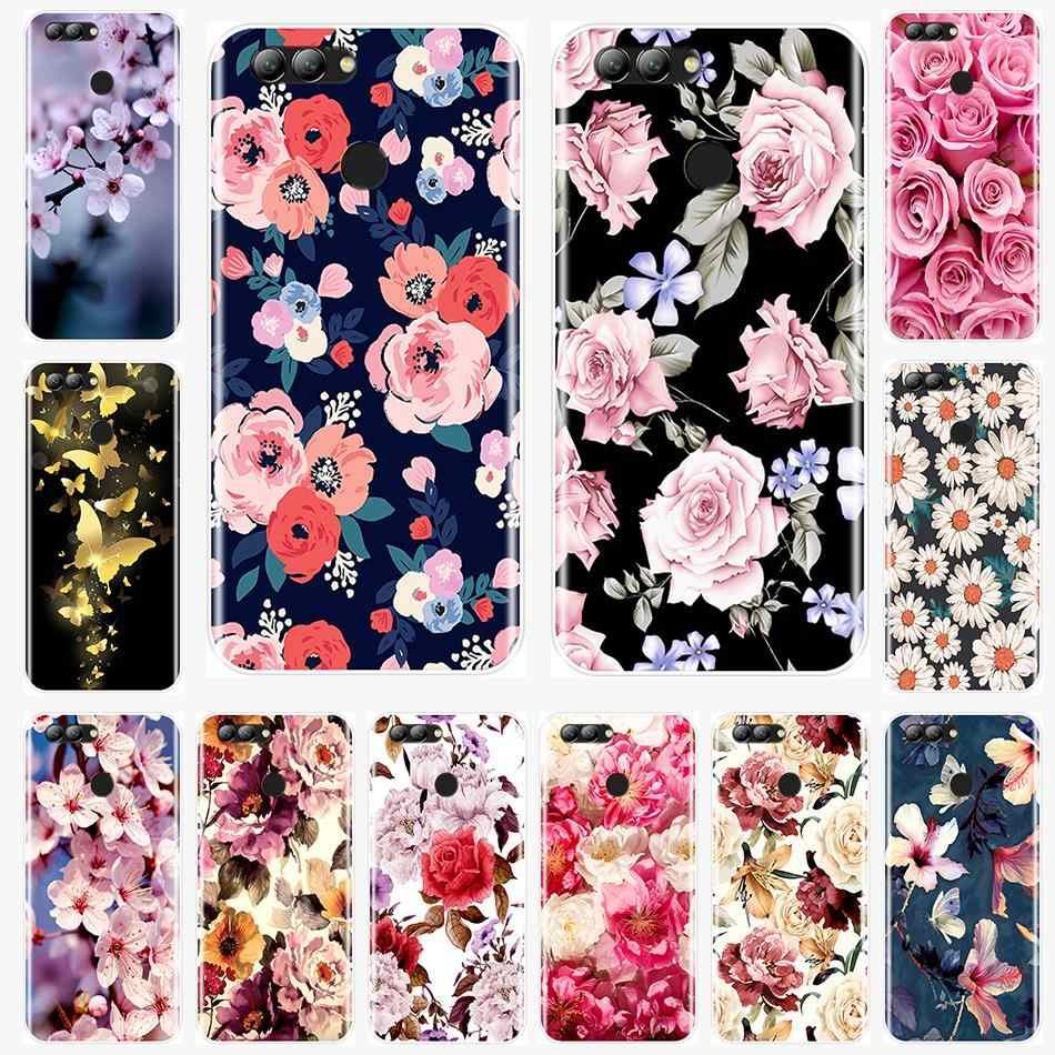 Belas Flores Tampa Traseira Para Huawei Nova 2i 2 Lite Plus 3 3I 3E Silicone Macio Para Huawei Nova Inteligente lite 2017 Caso de Telefone