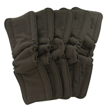 Купить с кэшбэком Ohbabyka Bamboo Charcoal Diaper Elastic Inserts for Baby Nappies Reusable Washable Cloth Diaper Insert Fraldas De Pano 5pcs/Pack