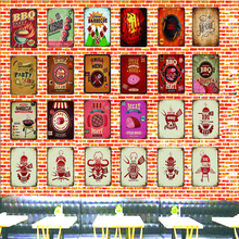 цена на Tin Signs  Metal Plate Wall Pub Kitchen Restaurant Home Art Decor Vintage  Poster Cuadros LA-4595A