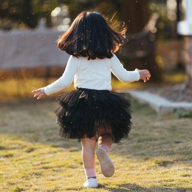 2020 nowa wiosna dziewczyny spódnica modna siatka spódnica do stroju balowego dziewczyny kostium taneczny spódnica Tutu BC887