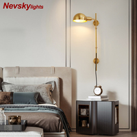 Classic gold sconce living room loft wall lamp bedroom modern wall lights bedside lamps for bedroom led fixtures bathroom light