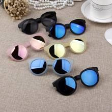 Crianças óculos de sol colorido espelho reflexivo óculos de sol crianças menino menina do bebê uv400 proteção máscaras óculos