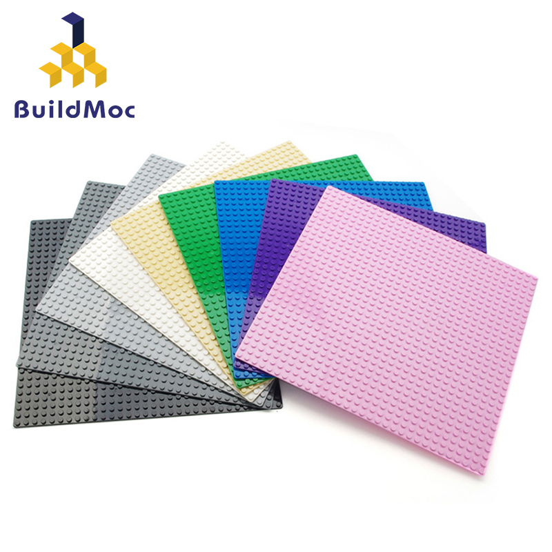 Buildmoc DIY Building Block Baseplate Figures Bricks 32x32 Dots Educational Creative Size Compatible With Lego Toys For Children